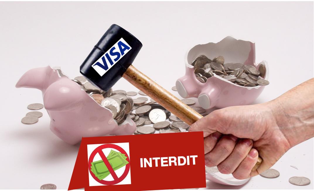 Visa veut interdire les paiements en liquide !?