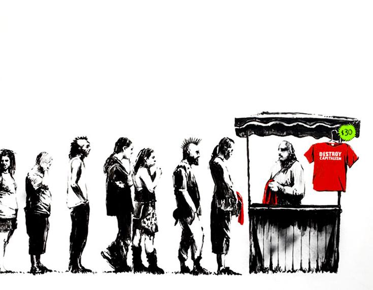 Banksy détruit son œuvre: les investisseurs applaudissent
